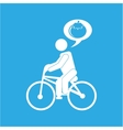 man silhouette riding bike design vector image vector image