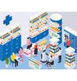 modern pharmacy vector image vector image