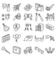 new year eve set icon doodle hand drawn vector image