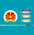 north macedonia national team schedule matches in vector image vector image