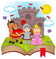 open book with fairy tale vector image vector image