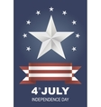 Postcard for Independence Day holiday in America vector image