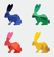 rabbit icon abstract triangle vector image