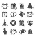 reminder notification black and white glyph icons vector image vector image