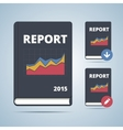 Report Icon Book vector image