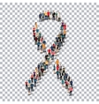 ribbon man people sign 3d vector image vector image