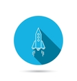 Rocket icon Startup business sign vector image vector image