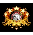 Roulette insignia on black vector image vector image