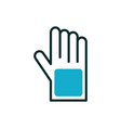 rubber glove equipment medical icon line fill vector image vector image