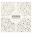Seamless Black And White Jumble Pattern vector image
