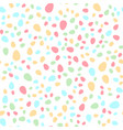 seamless pattern with colorful easter eggs vector image vector image