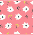 seamless pattern with pastel flowers vector image vector image