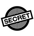 secret black stamp vector image vector image