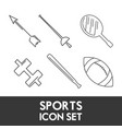 set flat icon tools sport vector image