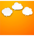 Set of paper white clouds vector image