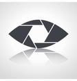 Shutter eye conceptual flat abstract icon vector image vector image