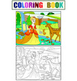 snow white in the woods with animals tale vector image vector image