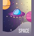 space galaxy cosmic card vector image vector image