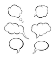 speech bubbles set think bubble vector image vector image