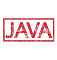 stamp text java vector image