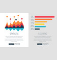 statistic representation colorful web page design vector image vector image