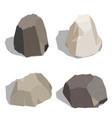 stone set isometric isolated on white background vector image vector image