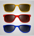 sunglasses color vector image vector image