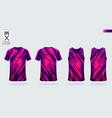 t-shirt sport mockup template design for soccer vector image vector image