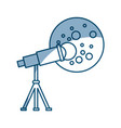 telescope observing the moon vector image vector image
