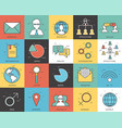 thin line social set icons concept vector image vector image