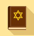 torah book icon flat style vector image