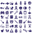 Toys icons on white vector image vector image