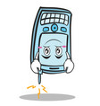 upside down face phone character cartoon style vector image vector image