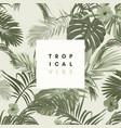 vintage monochrome pale plive tropical design vector image vector image