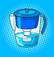 water jug filter pop art vector image vector image