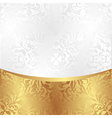 white and gold background with ornaments vector image