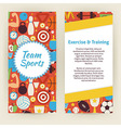 Flyer Template of Exercise and Training Sport vector image