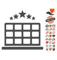 hotel stars icon with valentine bonus vector image