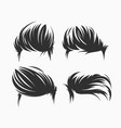 set of men hairstyle and haircuts isolated vector image