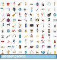 100 sound icons set cartoon style vector image vector image
