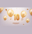 10th anniversary celebration vector image vector image