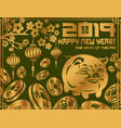 2019 new year symbol pig vector image