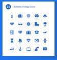 25 vintage icons vector image vector image