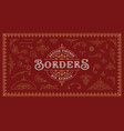 a set vintage borders and design elements vector image