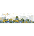 Abstract Montpelier Vermont city skyline vector image vector image