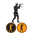 ancient Greek musician vector image