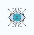 ar augmentation cyber eye lens flat icon green vector image vector image