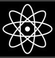 atom the white color icon vector image vector image