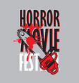 banner for horror movie festival scary cinema vector image vector image