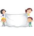 banner kids vector image vector image